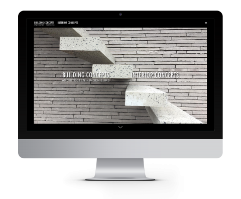 building concepts website voor architecten en ingenieurs