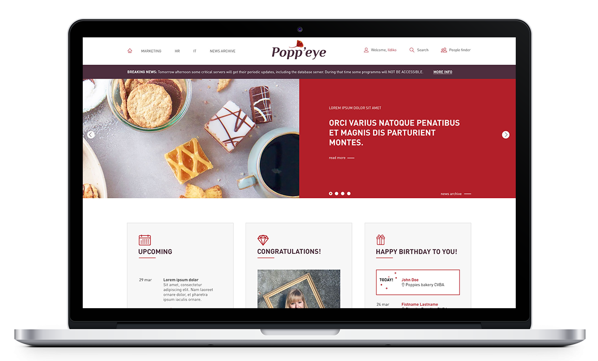 Popp'eye, intranet voor Poppies